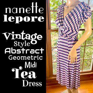 ⭐️HP⭐️NANETTE LEPORE▪️Retro Abstract Tea Dresss